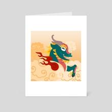 Silly Beasty : Kirin - Art Card by Valériane Duvivier