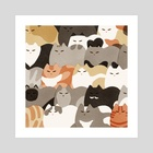 Monday Cats - Art Print by Jeannie Phan