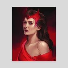 Scarlet Witch - Canvas by Rodney  Amirebrahimi