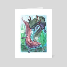 Axolotl - Art Card by Daniel Claessens