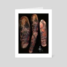 SS Anne and Mariana Tattoo Sleeve  - Art Card by Marlaina  Mortati