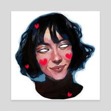 selfie II - Canvas by Veronika Gorbatenko