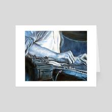 Lap Steel - Art Card by kimberley guilmette
