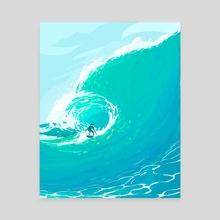Surfing - Canvas by Arina Mochalova