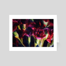 What in Carnation II - Art Card by Martha Wirkijowski