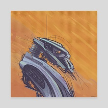 Robot 66 - Canvas by Todd Kale