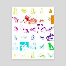 Huevember 2018 drawings - Canvas by Birgitte Johnsen