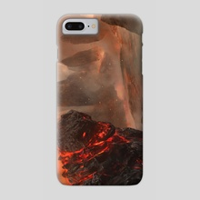 Duels Of The Planeswalkers 2014 - Obsidian Lava Mage - Phone Case by Brad Rigney