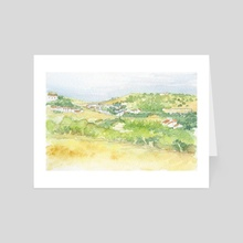 Burgau village - Algarve, Portugal - Art Card by Carl Conway