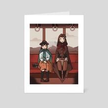 Train Journey - Art Card by Jorge Murillo Cucalon