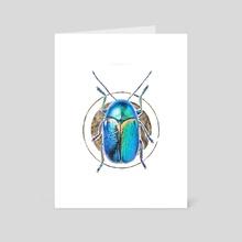 Beetle - Art Card by EmilyMeganXArt