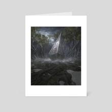 Overgrown Tomb - Art Card by Noah Bradley