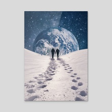 Pale Blue Dot - Acrylic by Enkel Dika