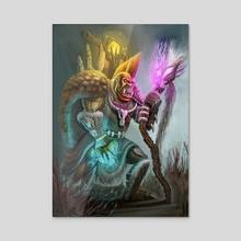 Orc Shaman - Acrylic by Anthony Christou