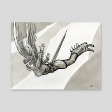 I Am Free to Fall - Acrylic by Justin Lorenzen