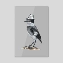White-tailed Shrike - Acrylic by Mikhail Vedernikov