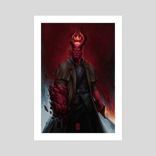 Hellboy by Rodney  Amirebrahimi