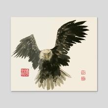 Eagle - 67 - Acrylic by River Han