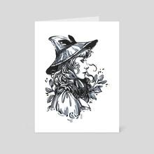 Catnip Witch - Art Card by Maria Dimova