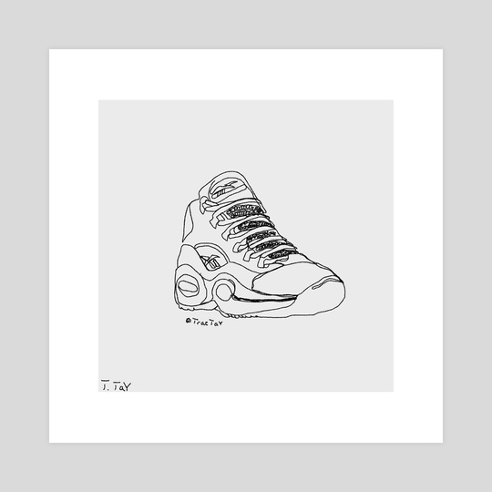 "Reebok x Allen Iverson's ""Question Mid"" (Single Line Drawing) by Trae Tay"