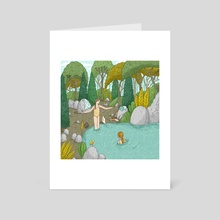 Day-trip To The Fountain - Art Card by Alona Millgram