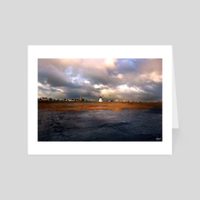 Beach Windmill - Art Card by Katy Grierson