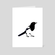 Magpie - Art Card by Bianca Wisseloo