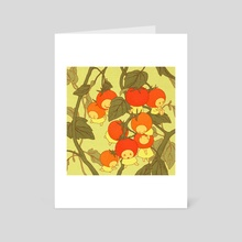 Summer Cherry Tomatoes - Art Card by Rii Abrego