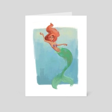 Ariel - Art Card by Andrea Arce
