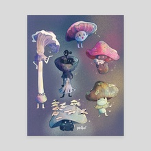 Funguys - Canvas by Aly Jones