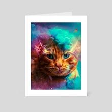Mr Whiskers - Art Card by Marischa Becker