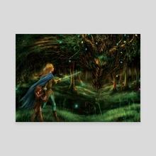 Strange Encounter - Canvas by Katerina Romanova