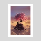 Pink Tree Hill - Art Print by Maxime Chiasson Art