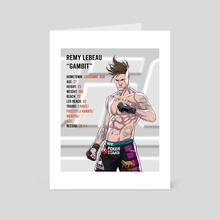 UFC Gambit - Art Card by Rodrigo Lorenzo