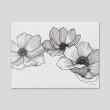 Anemones - Acrylic by Courtney Archer