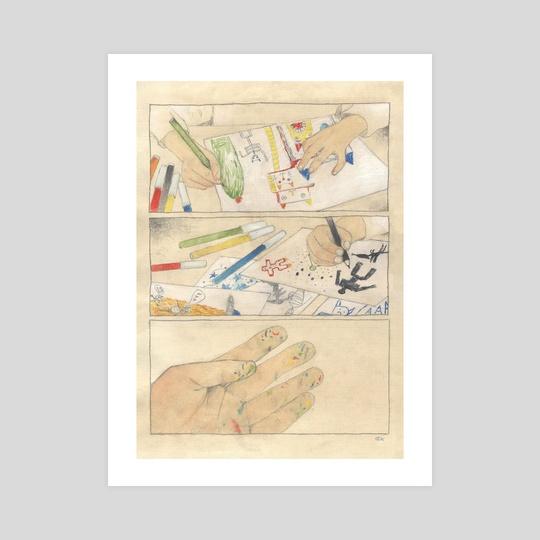 artist's hands by sakana zakana