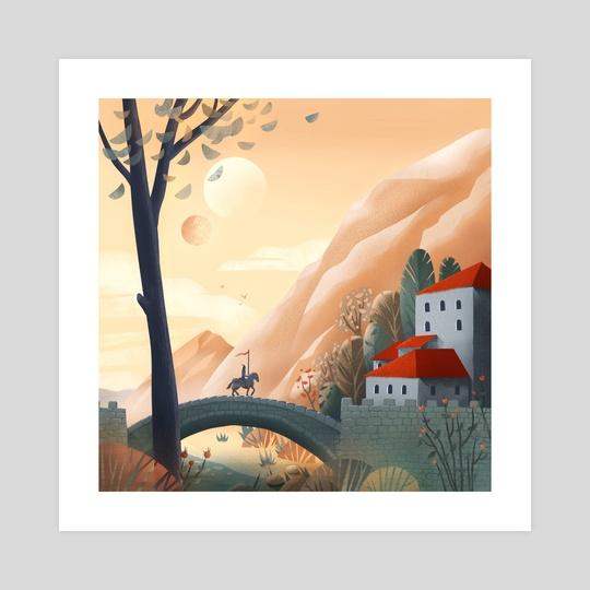 Knight and the Bridge by Anna Kuptsova