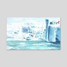 on the ice - Acrylic by Rowan Fridley