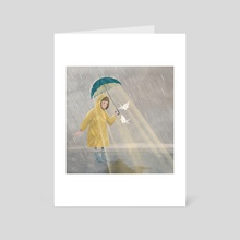 Rainy days adventures  - Art Card by Mirella Illustrates