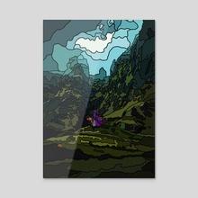 Mountain Woman 01 - Acrylic by Jordan de Graaf