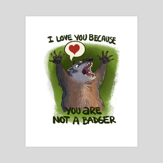 You Are Not A Badger by Tony Etienne