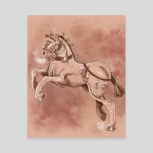 Renaissance horse - Canvas by Pinku Chaii