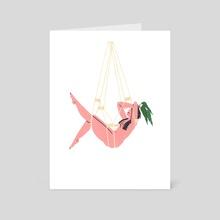 Macrame Babe - Extrovert - Art Card by Rachel Jo