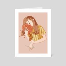 Broken Flowers - Art Card by Paula Moruzzi