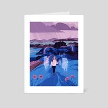 Walk Alone - Art Card by Flora Kirk