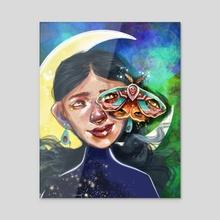 Luna moon - Acrylic by Lillian Fitch