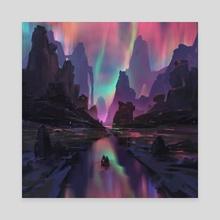 Midnight Gleam - Canvas by Ayan Nag