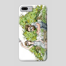 Fall Tea Garden - Phone Case by John Carvajal