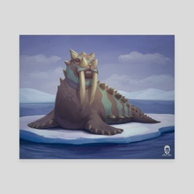 The Horned Walrus - Canvas by Amir Levi