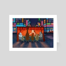 Street Food - Art Card by EKAH